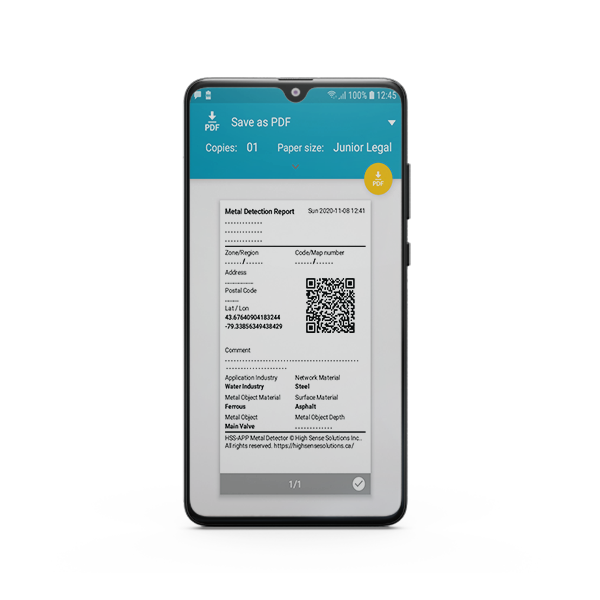 HSS Metal Detection APP (Android)